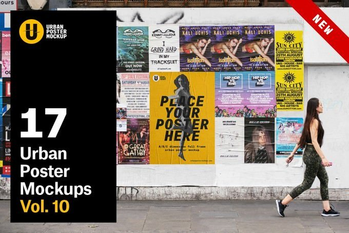 Urban Poster Mockup PSD