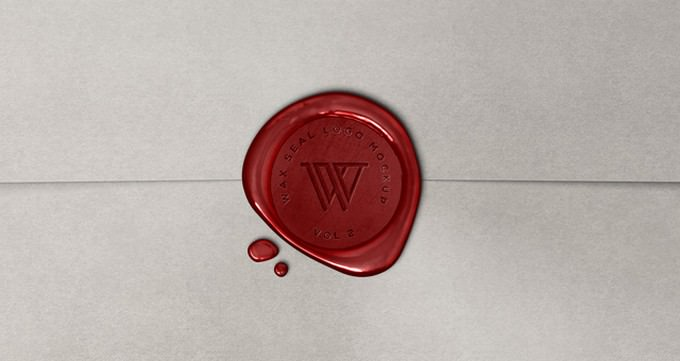 Wax Seal Logo PSD Template
