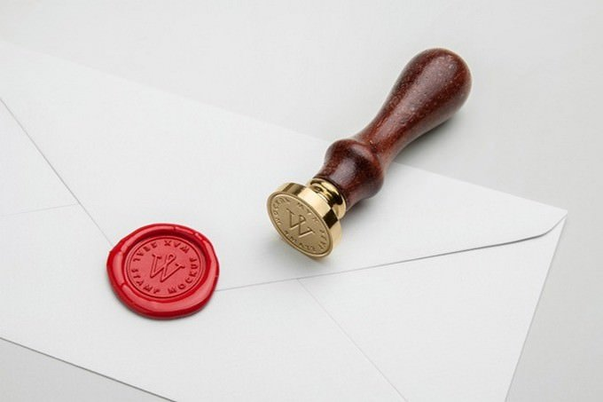 Wax Seal PSD Template