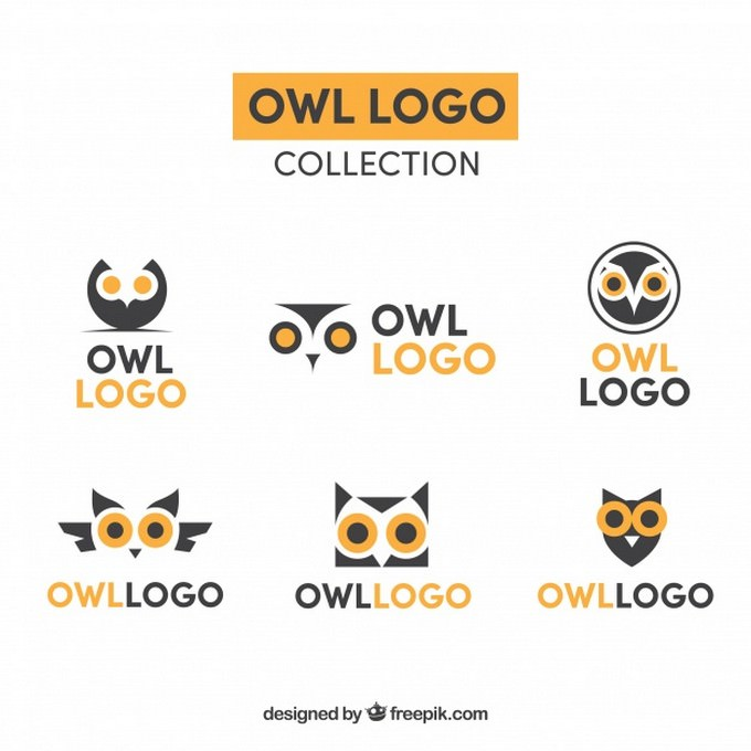 Yellow And Blue Owl Logo