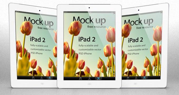 iPad 2 Psd Vector Mockup