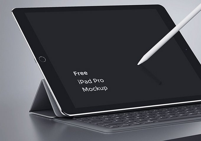 iPad Pro Digital Devices Mockup PSD