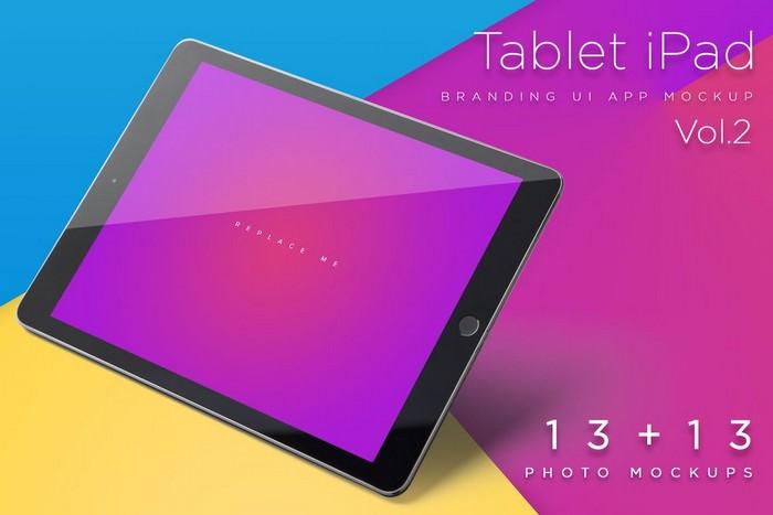 iPad Tablet UI Mockup PSD