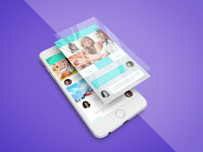 iPhone App Screen PSD Mockup
