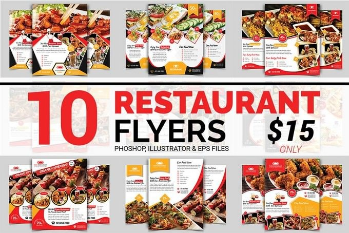 Restaurant Flyers Bundle