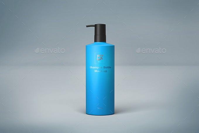 500ml Shampoo Bottle PSD