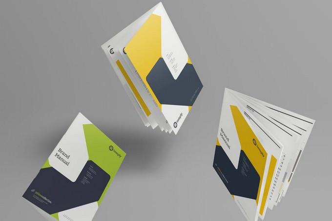 A4 Brochure Magazine-Booklet Mockup