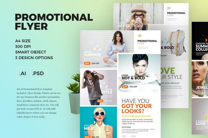 A4 Promotional Flyer Template