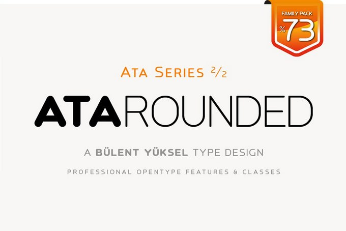 ATA Rounded Font