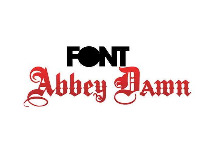 Abbey Dawn Font