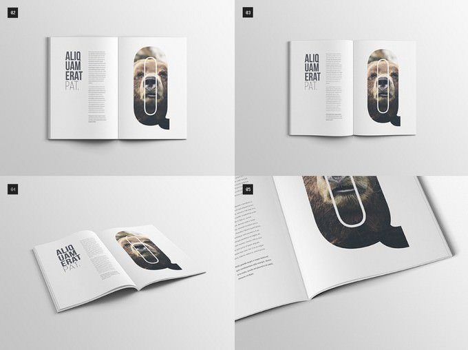 A4 Magazine Booklet Mockup