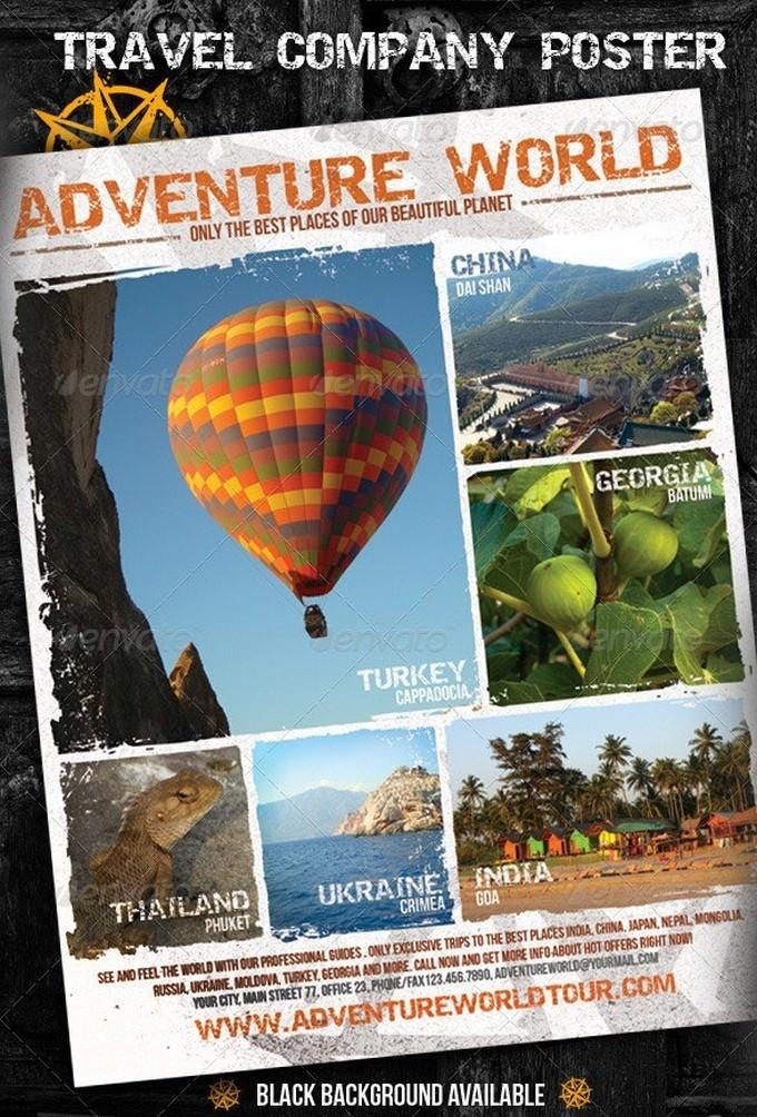 Adventure World Travel Company Poster
