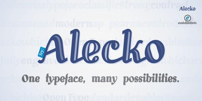 Alecko Font