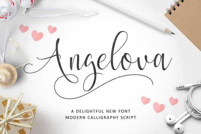 Angelova Script Font