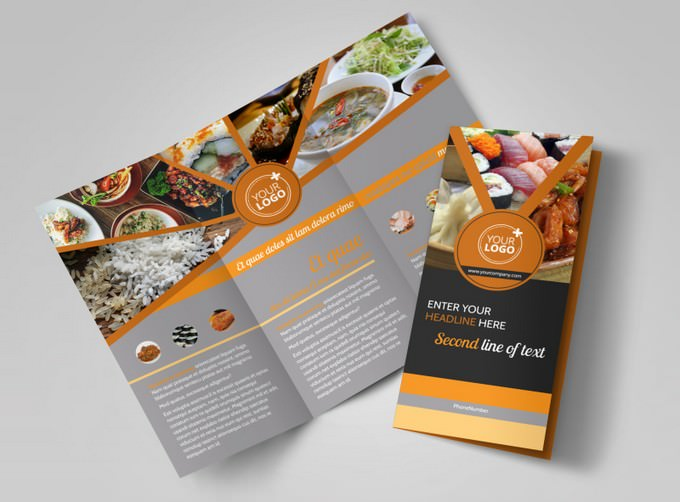 Asian Fusion Restaurant Brochure Template