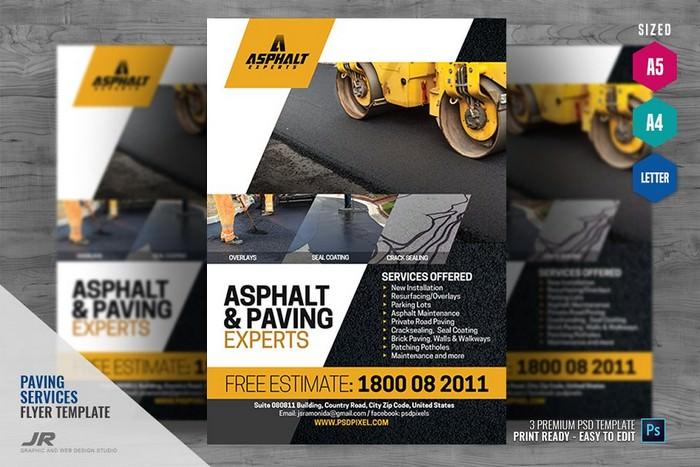 Asphalt Company Promotional Flyer