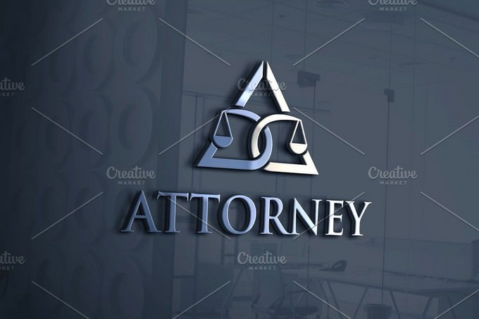 Attorney Advisor Letter A Logo Template