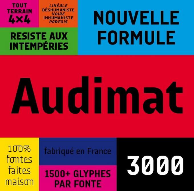 Audimat 3000 Font