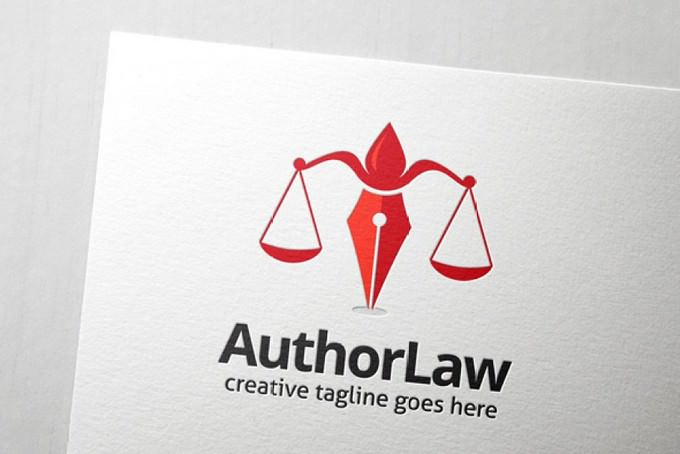 Author Law Logo Template