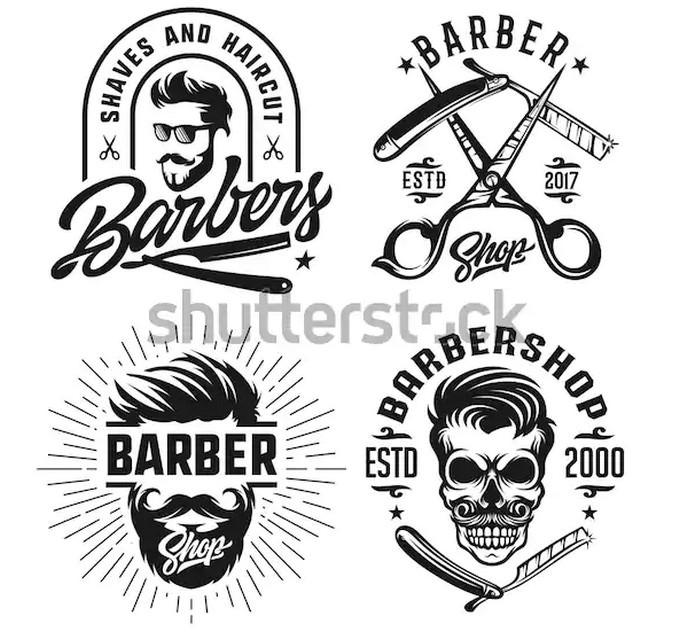 Barber Shop Vintage Design Logo