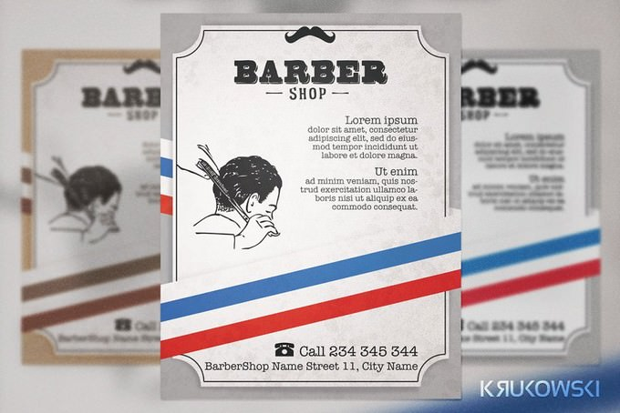 Barber Shop Vintage Template
