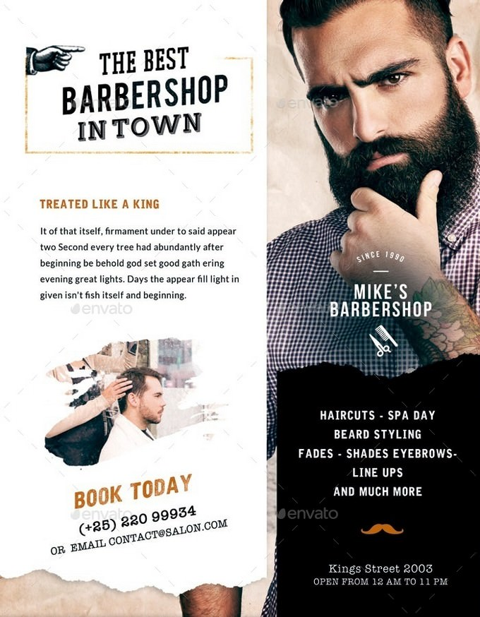 Barbershop Vintage Flyer