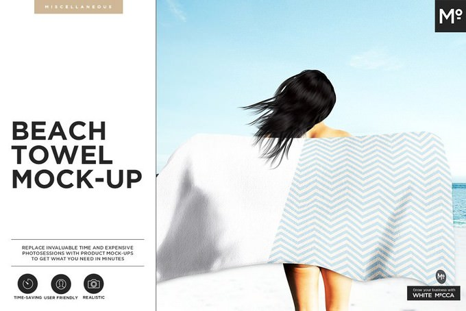Beach Towel Mock-up PSD