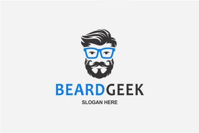Beard Geek logo Template