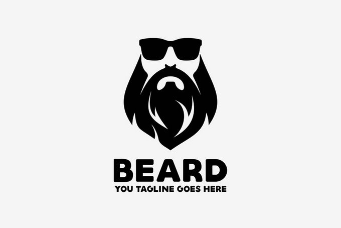 Beard Logo Template