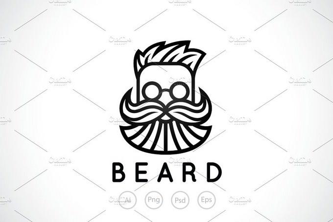 Bearded Man Shop Logo