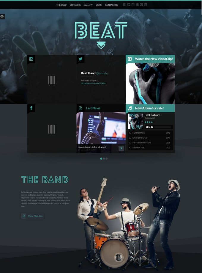 Beat HTML5 Music & Band Template