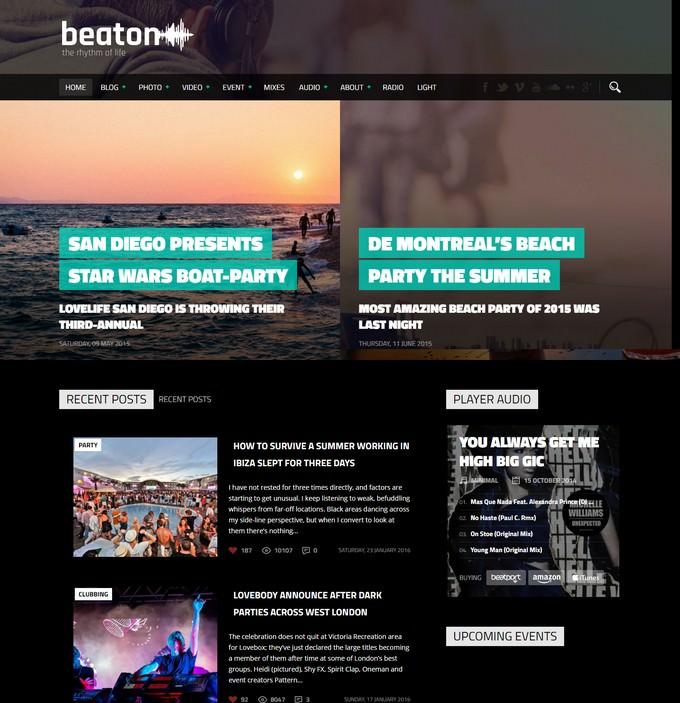 Beaton Radio WordPress Theme