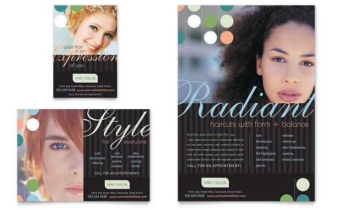 Beauty & Hair Salon Flyer & Ad Template