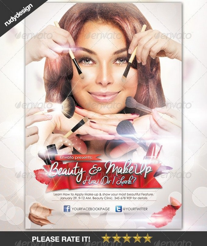 Beauty Make-Up Cosmetic Flyer