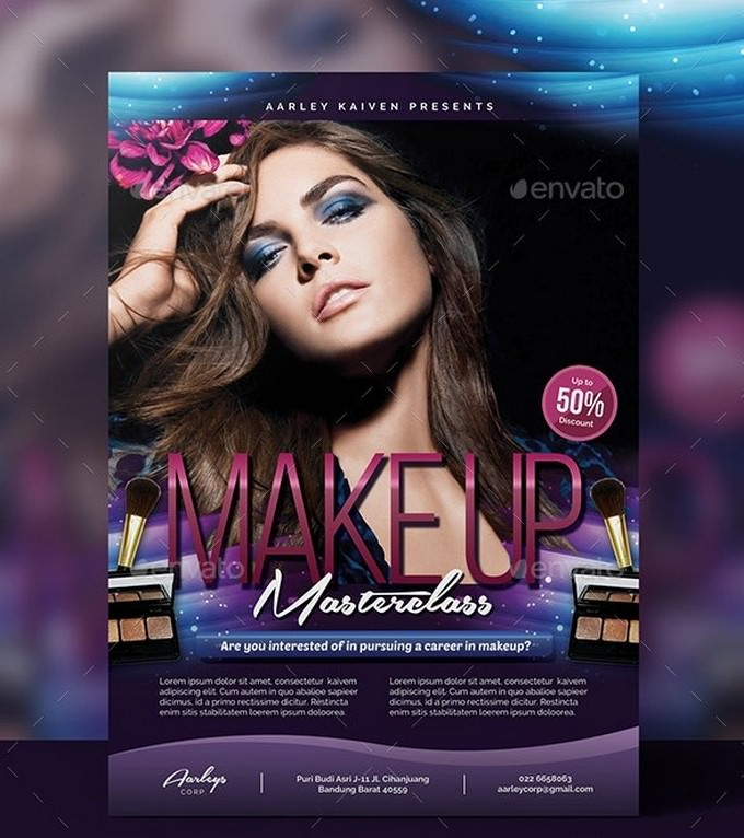 Beauty Make-up Cosmetic Flyer PSD