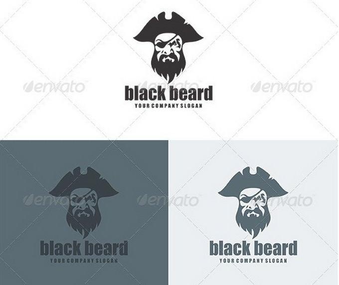 Black Beard Logo