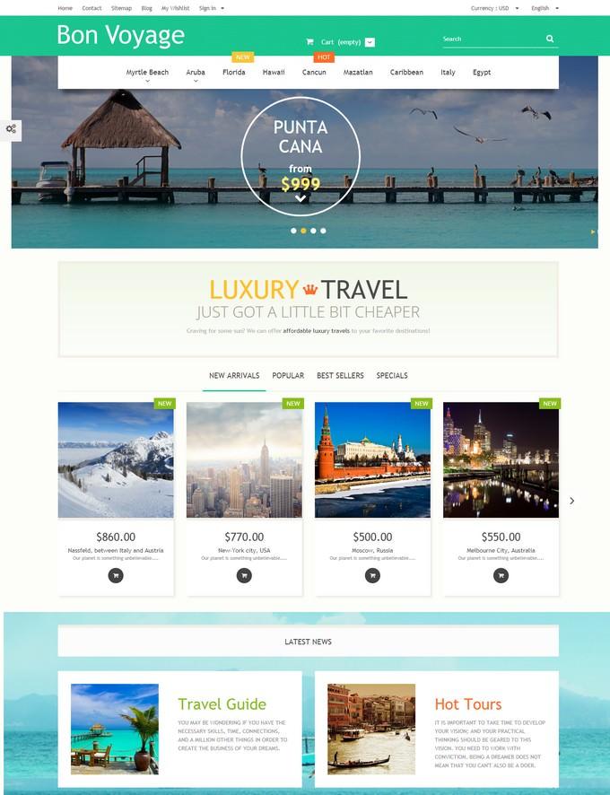 Bon Voyage PrestaShop PHP Theme