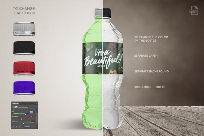 Bottle Water Mockup PSD