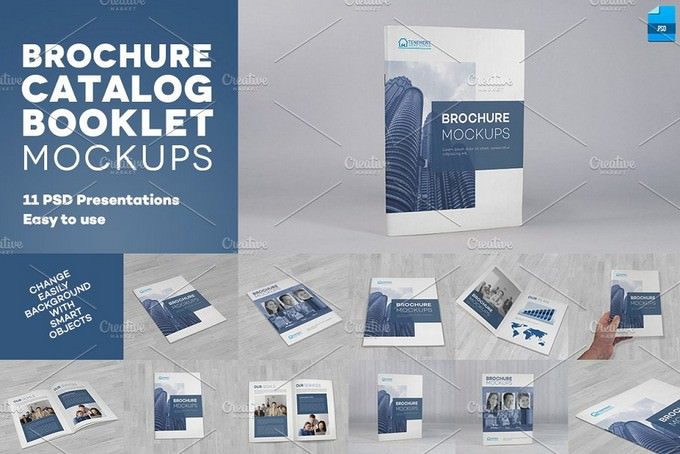 Brochure Catalog Booklet Mockup