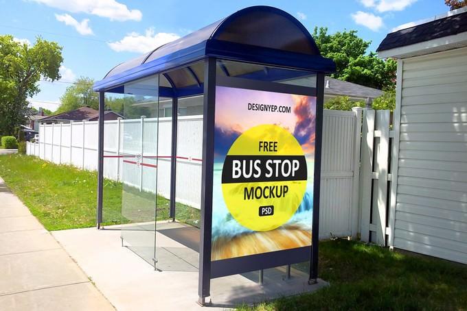 Bus Shelter Mockup