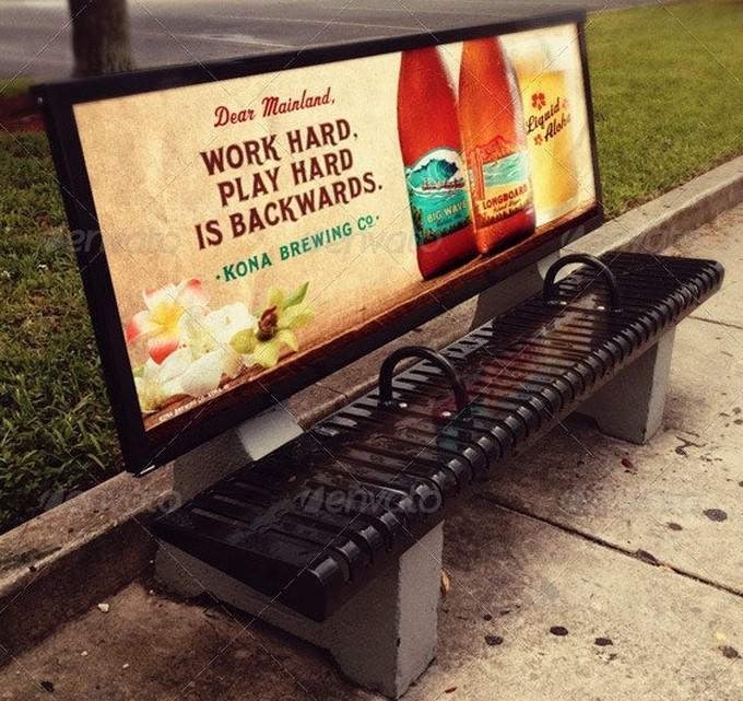 Bus Stop Advertisement Mockup