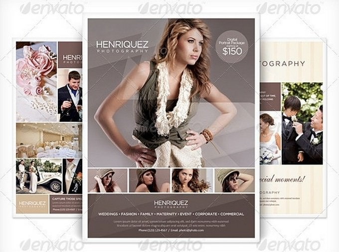 3 Business Flyers Photography