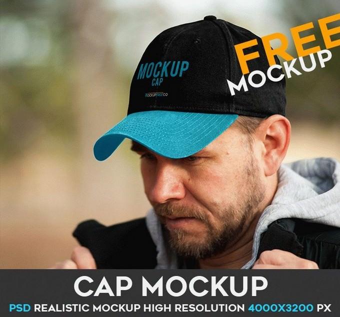 Cap Free Mockup PSD