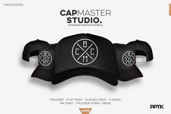 Cap Master Studio Mockup PSD