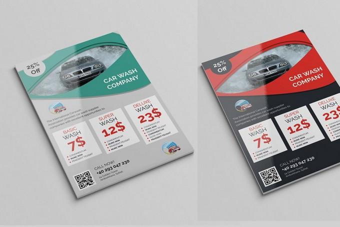Car Wash Company Flyer Template