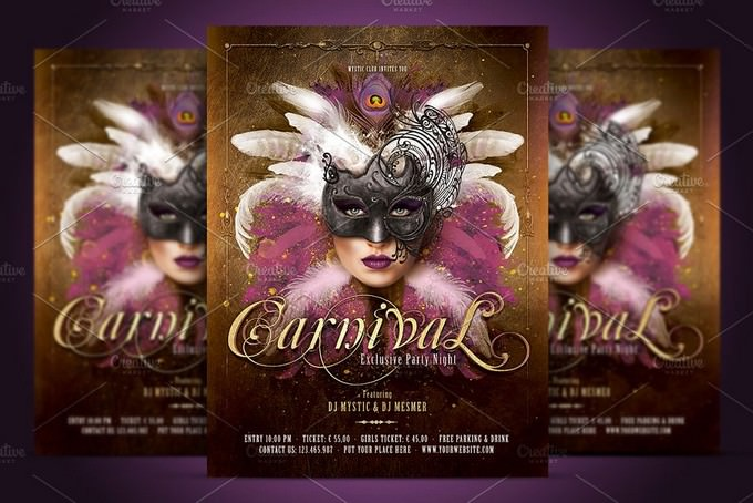 Carnival Mask Party PSD