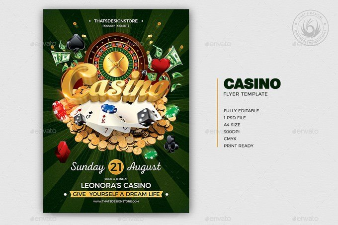 Casino Flyer Template