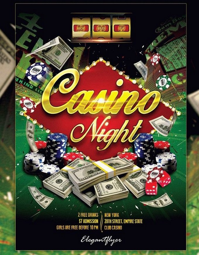 Casino Night Free Flyer