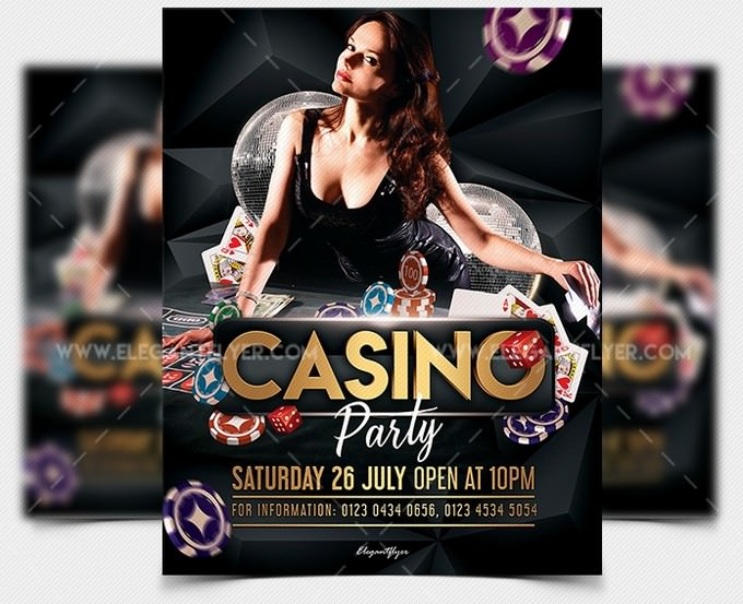 Casino Party Free PSD