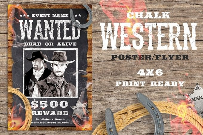 Chalk Western Flyer Template